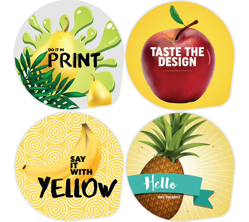 colourful printed die cut lidding options